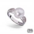 Anello perla australia oro bianco 18 KT