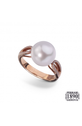 Anello perla Australia oro rosa 18 KT