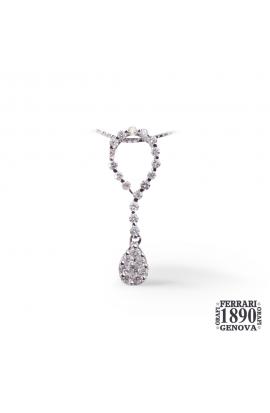Pendente fantasia con diamanti oro bianco 18 KT