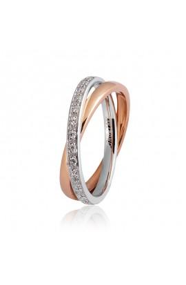 Per Sempre Oro bianco e rosa · diamanti ct. 0.30